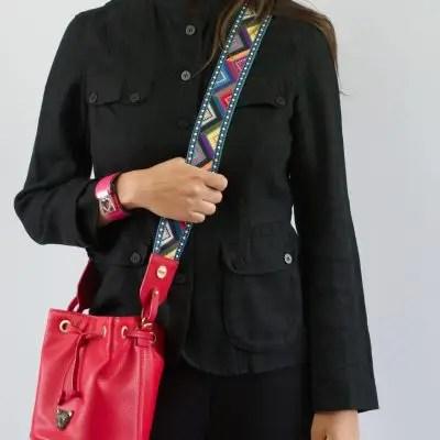 City bucket - red leather bucket bag