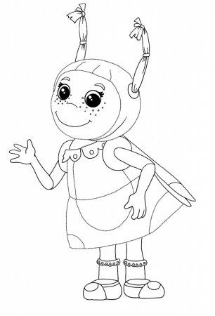 Раскраска для детей Лунтик 187 Развитие детей Оригами