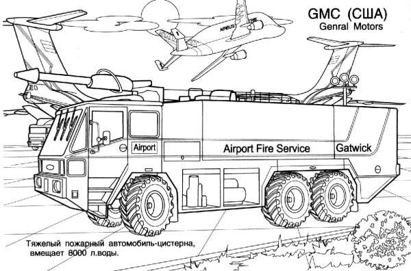 Детские раскраски Пожарные машины 187 Развитие детей