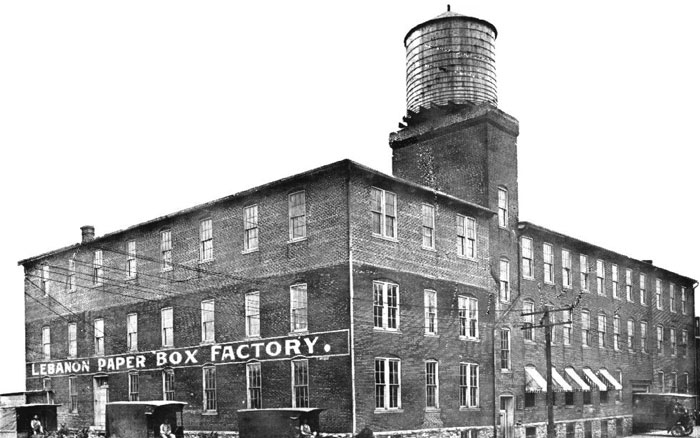 Lebanon Paper Box Factory - 1910