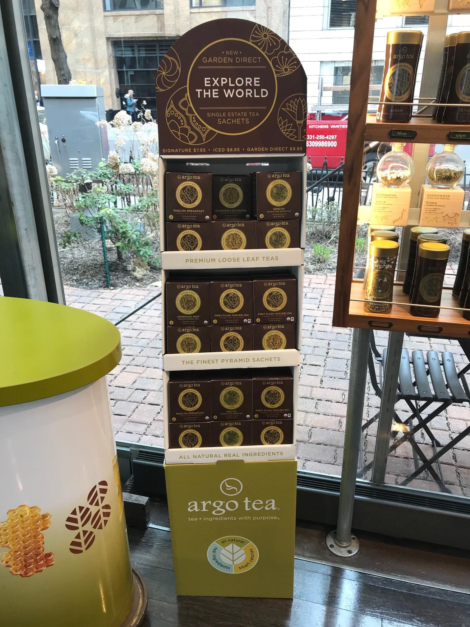 Argo Tea Display & Custom Retail Product Packaging