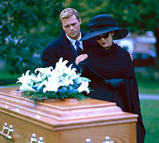 orange county-wrongful-death-lawyers Family next to casket