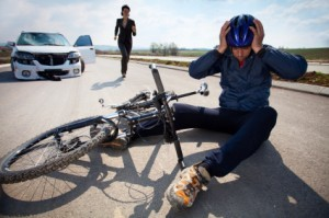 Newport Beach bicycle accident lawyer - man in bicycle accident