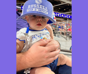 Raelyn at the Ranger game!