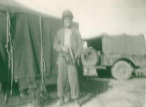 dad with a Tommy gun