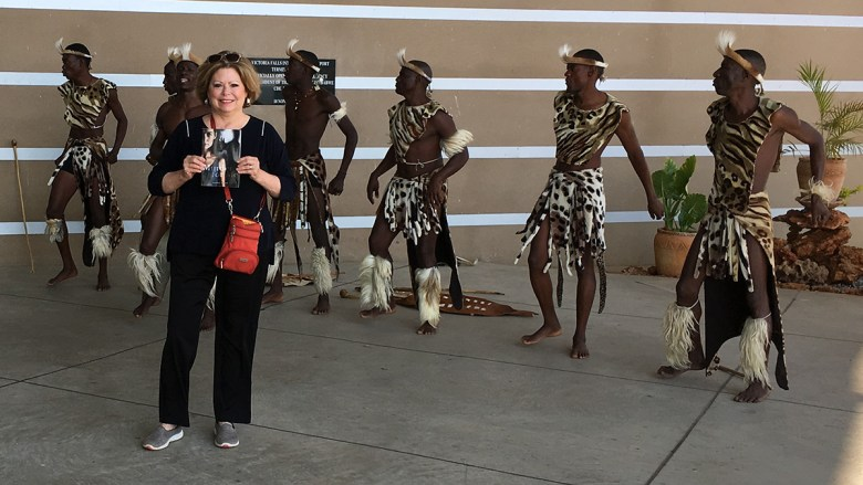 Susie Bowers traveling in South Africa