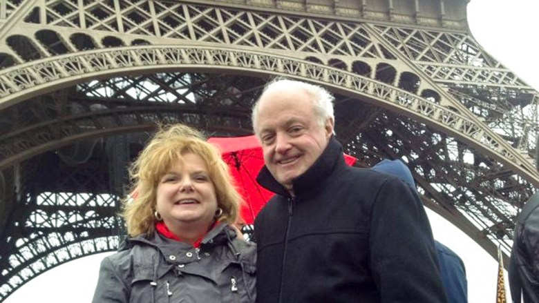 Paris: Russell and Melinda at the Eiffel Tower