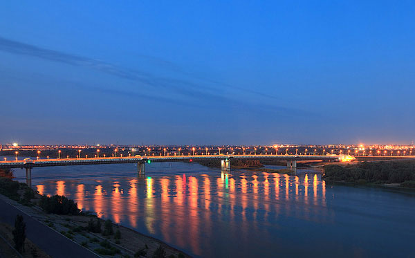 Omsk has a River network large enough to conduct significant inland Port trade deep into Kazakhstan