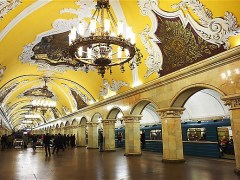 Komsomolskaja metro stanica Moskva