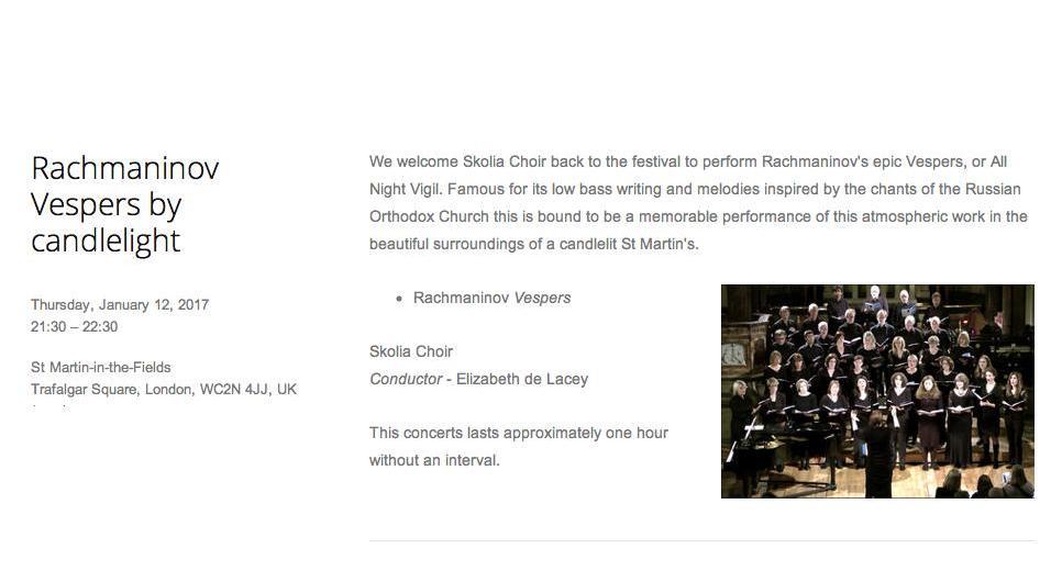 Rachmaninov All Night Vigil