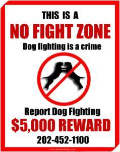 no dog fighting