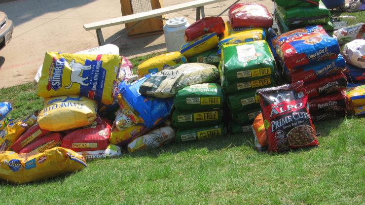 dry dog food supply
