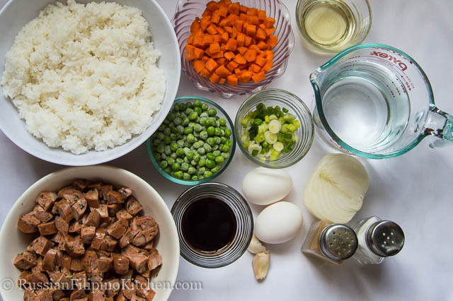 Italian sausage fried rice russian filipino kitchen ingredients italian sausage fried rice ccuart Choice Image