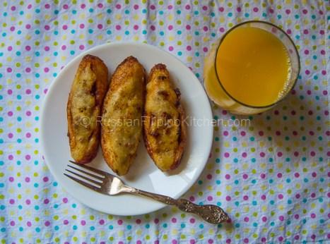Banana Meat (Fried Banana Stuffed With Ground Pork) 16