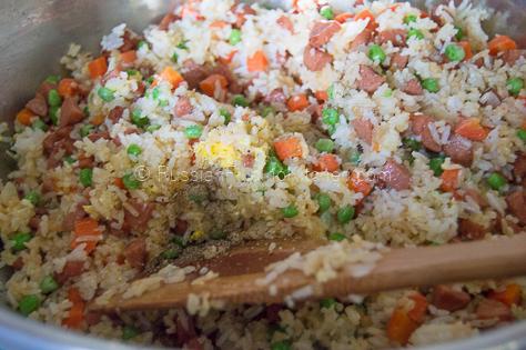 Easy Hot Dog Fried Rice 11