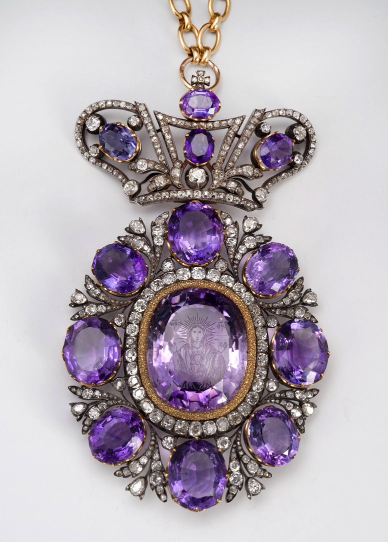 Amethyst and Diamond Panagia