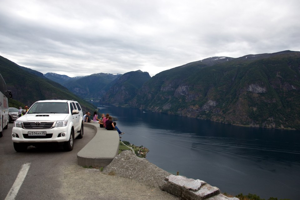car and fjord