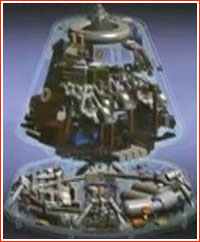 Crew module of PTK NP spacecraft