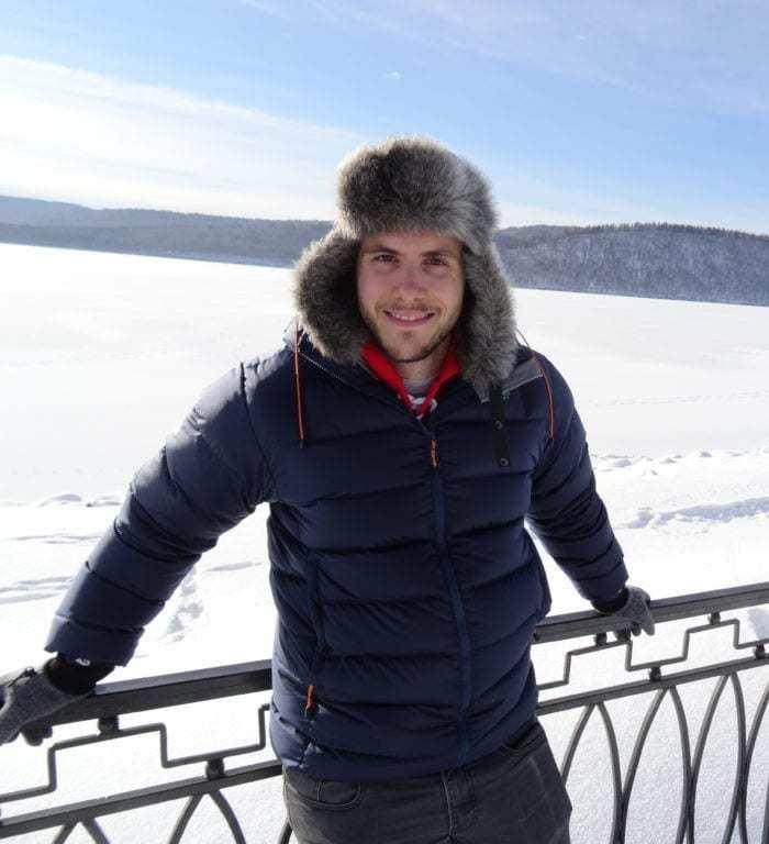 Schwabski im Winter am gefrorenen Baikalsee