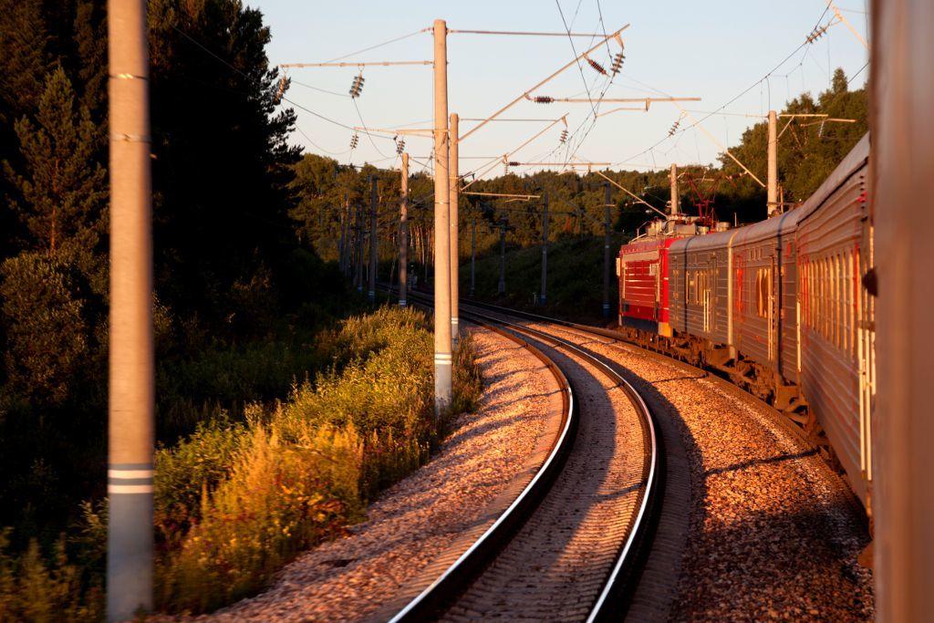 Waggons der Transsibirischen Eisenbahn