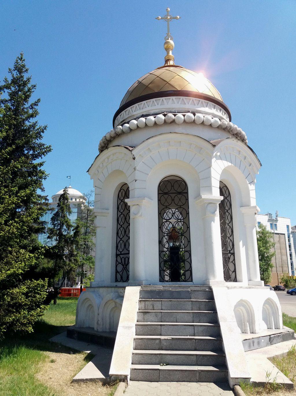 Kopie einer Kuppel der zerstörten Kasaner Kathedrale in Irkutsk
