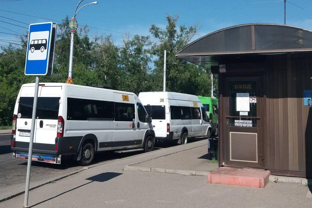Die Bushaltestelle am Flughafen Irkutsk