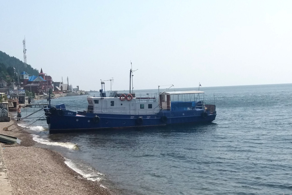 Boot in Listwjanka am Baikalsee