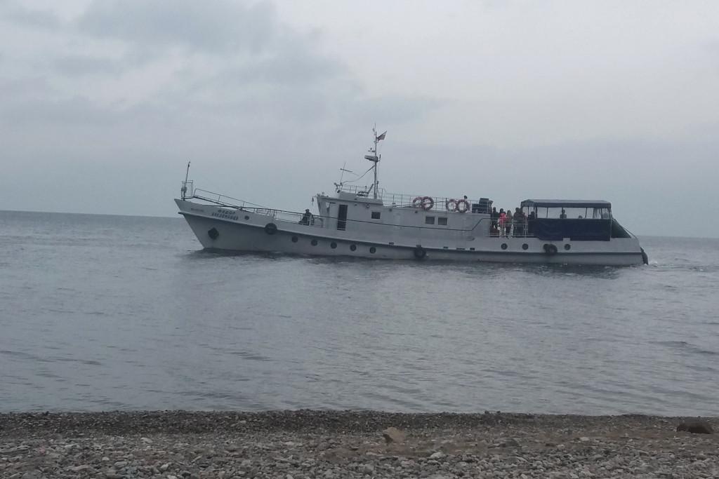 Boot auf dem Baikalsee