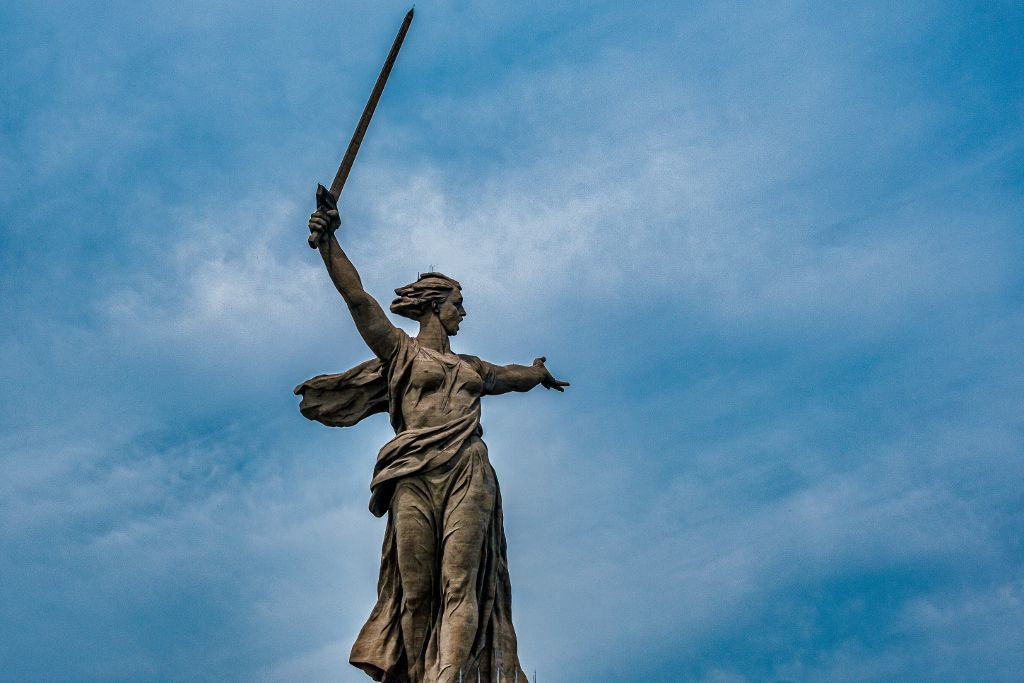 Mutter Heimat Statue in Wolgograd
