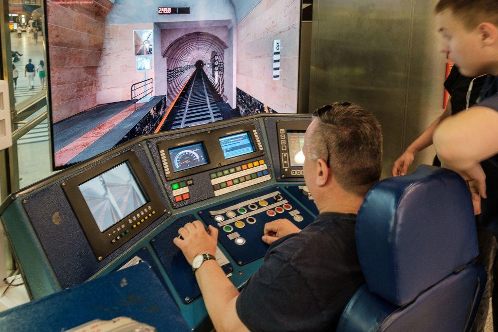 Simulator für Metrofahrer in Moskau