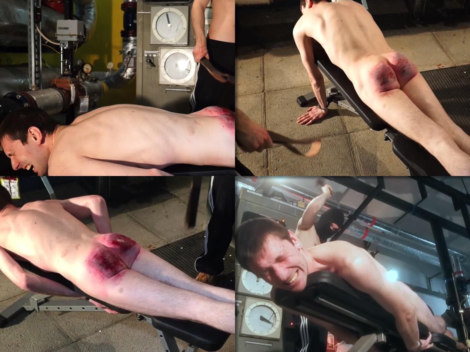 Extreme belt spanking for worker Pasha 25 y.o.