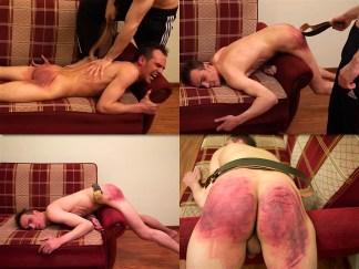 Man ass thrashing