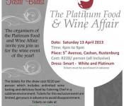 Platinum wine and food affair poster 2013 edited