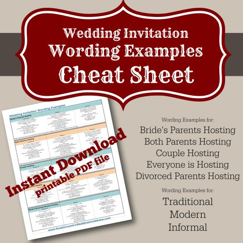 Western Wedding Invitation Wording Ideas