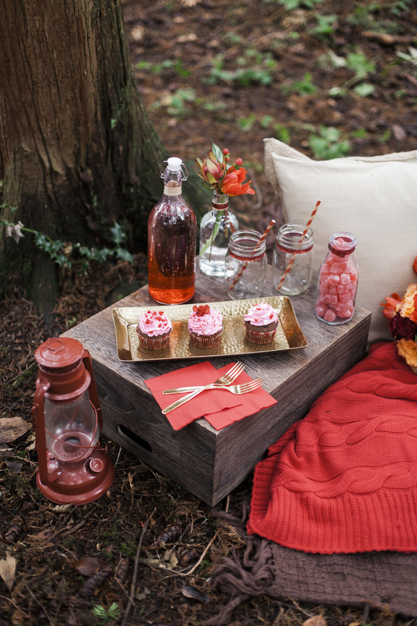 Sweet Valentines Day Surprise Picnic Rustic Folk Weddings