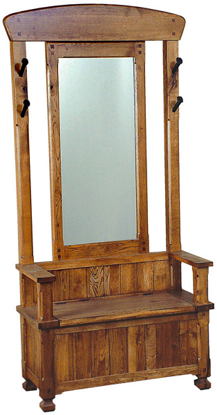 Rustic Furniture Rustic Oak Amp Slate Hall Tree With