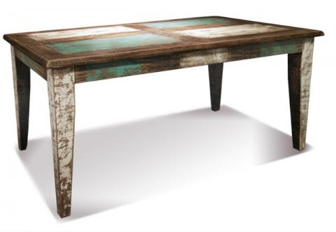 bombay hand painted 66 leg dining table rustic on hand painted dining room tables id=31181