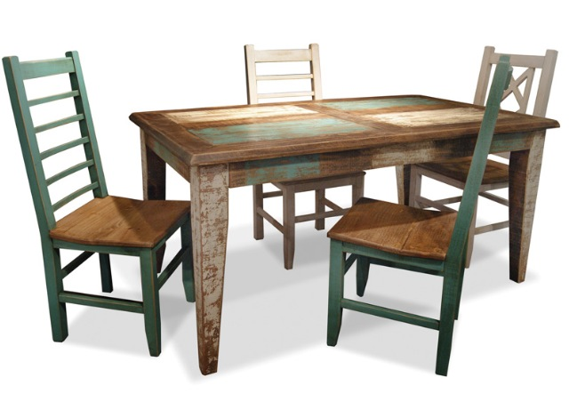 bombay hand painted 66 leg dining table rustic on hand painted dining room tables id=11957