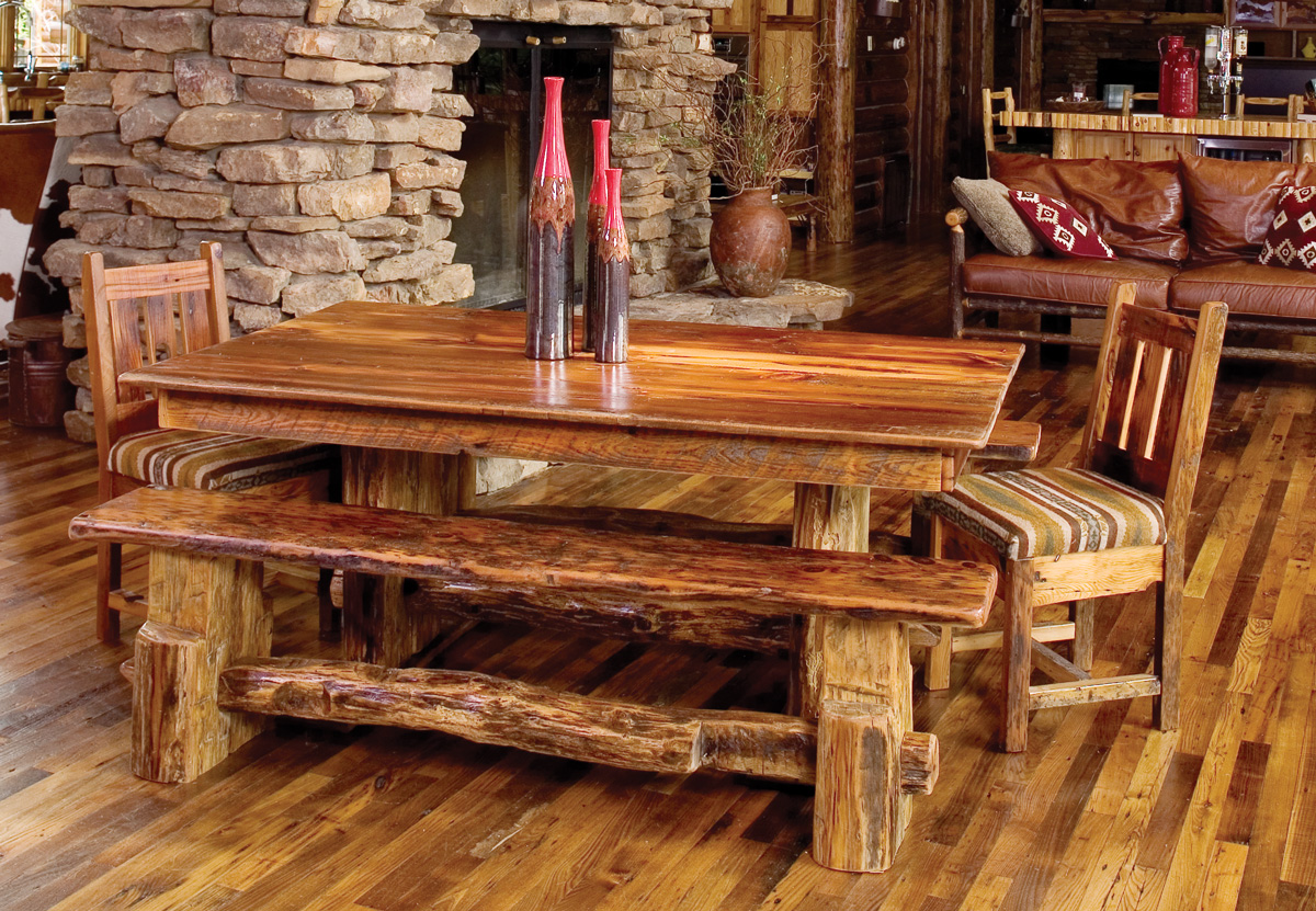 Rocky Mountain Barn Wood Dining Table Rustic Furniture
