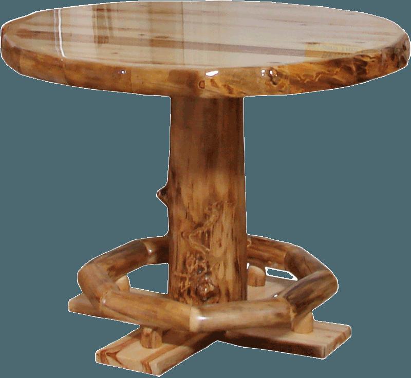 Aspen Log Square Dining Table Rustic Log Furniture Of Utah