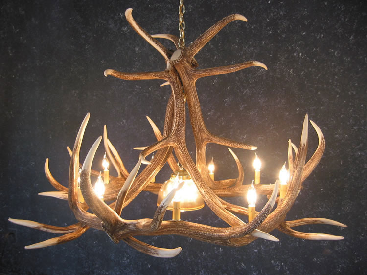 Elk Antler Chandeliers Rustic Log Furniture Of Utah
