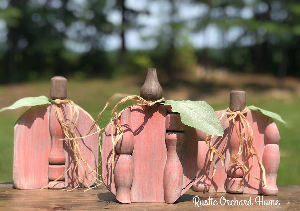 DIY Fall Pumpkin Decor Using Porcelain Doll Pink Painting Technique