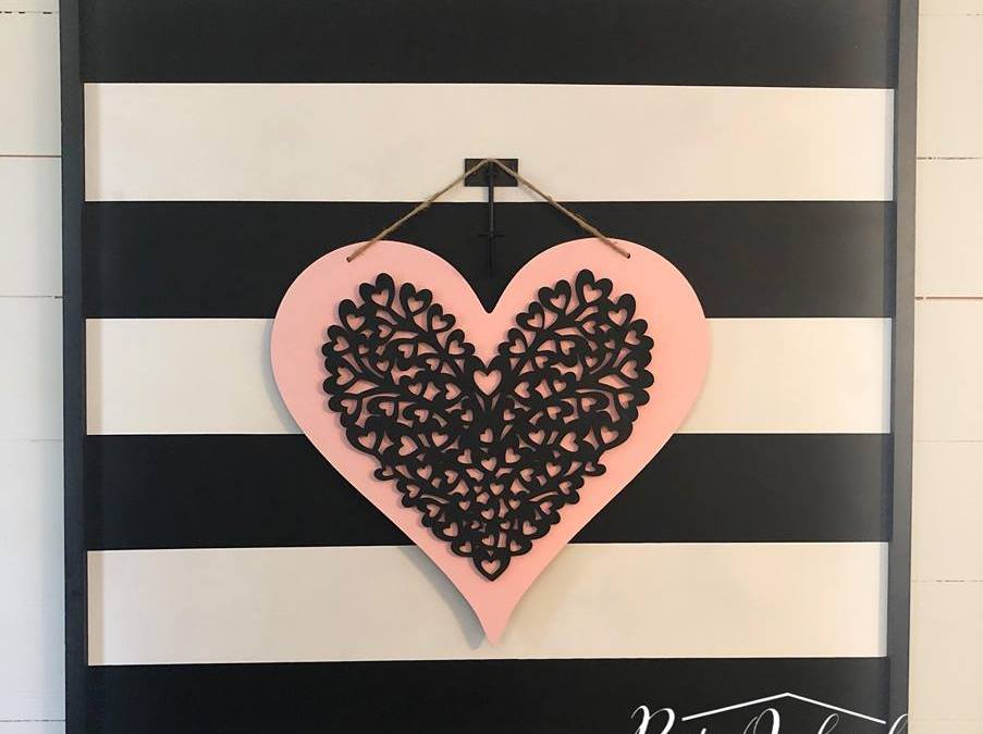 DIY Valentine's Day Door Hanger