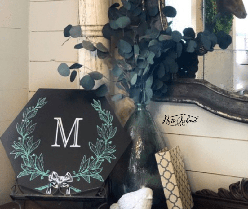 Create Your Own Personalized Monogram Laurel Wreath Sign!!