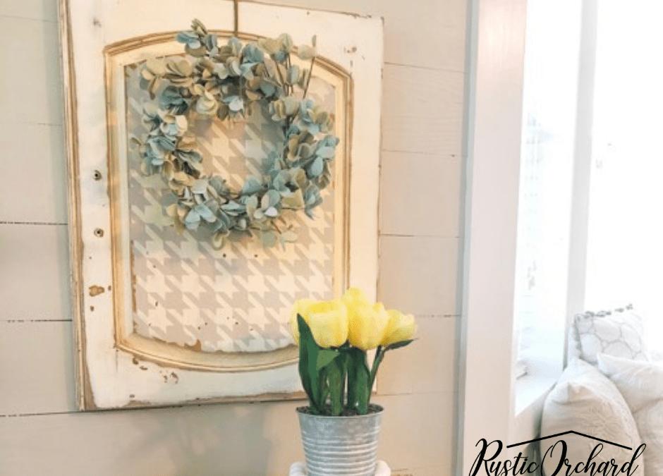 DIY Upcycled Cabinet Door Craft