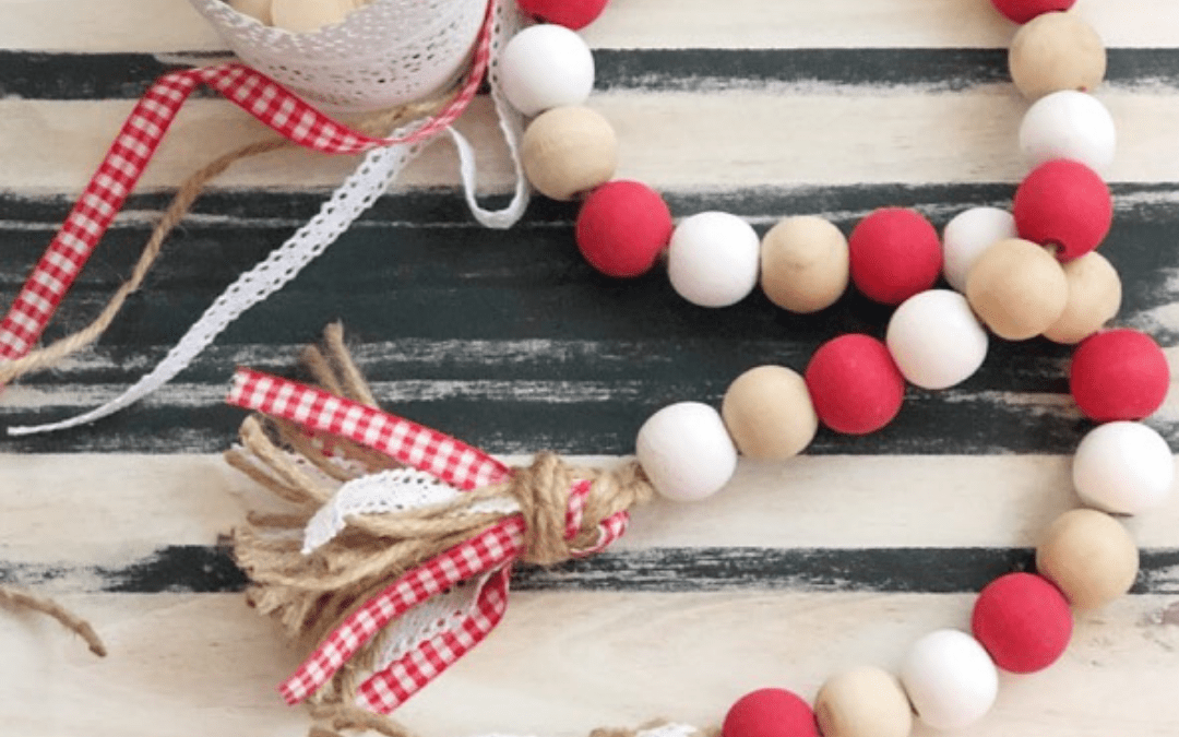 Tips & Tricks For Making a DIY Wood Bead Garland