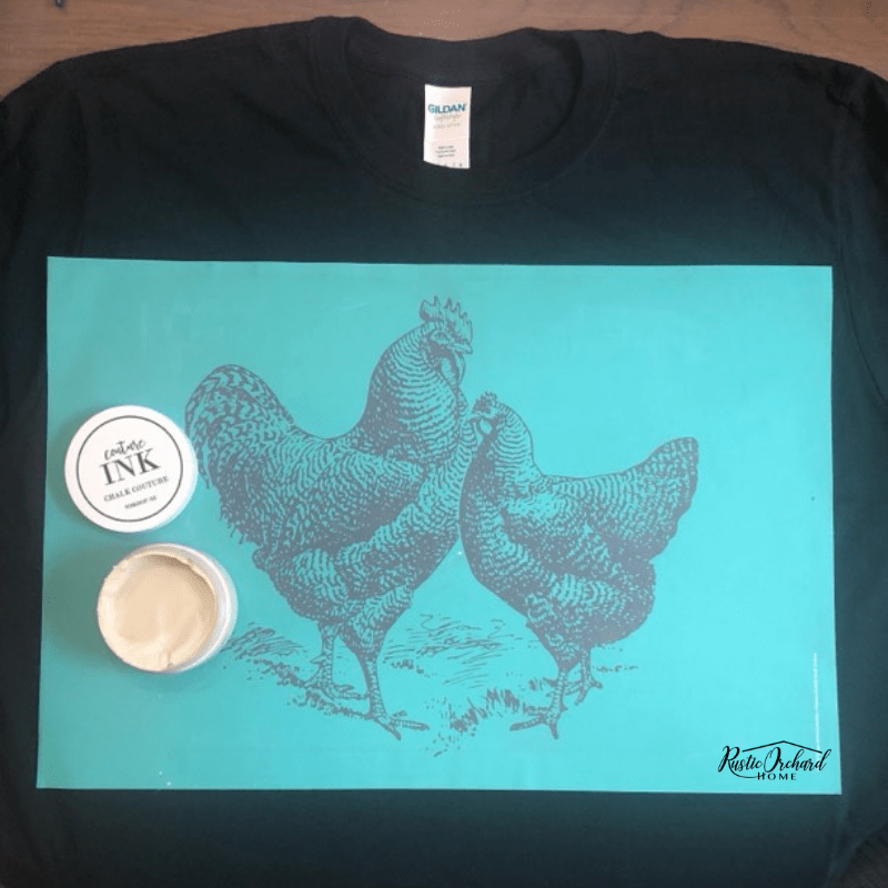 Learn to use Chalk Couture Ink to create adorable t-shirts! This is a great make and take idea or craft project to sell at vendor markets! #rusticorchardhome #chalkcouture #chalkcoutureink #chalkcouturetshirts #chalkcouturemakeandtake