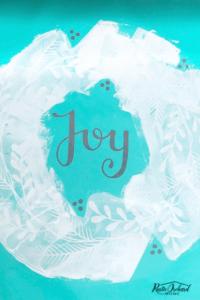 Learn how to create adorable DIY Christmas decor using the Chalk Couture Holiday Joy Transfer! #rusticorchardhome #chalkcouture #holidayjoytransfer #christmascraft #diychristmasdecor