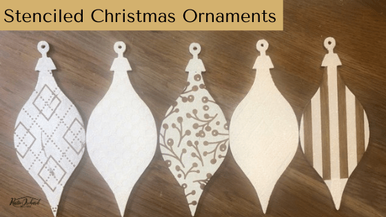 Make your own stenciled wood ornaments for Christmas using Chalk Couture. #rusticorchardhome #chalkcouture #christmascraft #farmhousehchristmas #christmasdiy