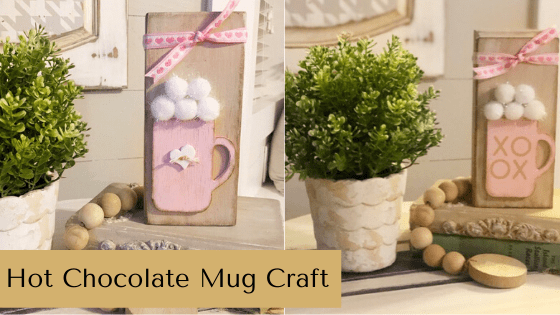 This DIY Hot Chocolate Mug Craft is the perfect farmhouse decor touch for any hot cocoa bar! #rusticorchardhome #hotcocoabar #valentinesdaycraft #hotchocolatemugdiy #chalkcouture